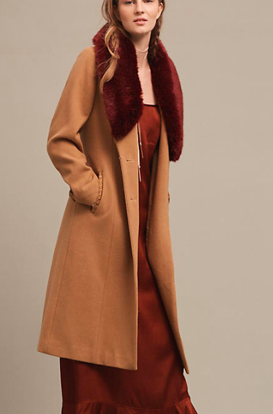 ANTHROPOLOGIE SIENNA WOOL COAT
