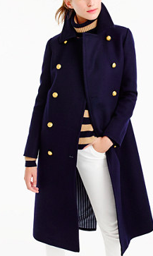 JCREW DOUBLE-BREASTED TOPCOAT IN WOOL-CASHMERE