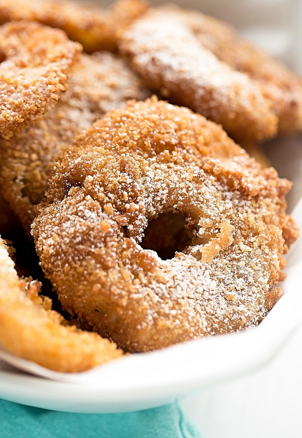 Deep-Fried Crispy Apple Donuts | Truffles and Trends