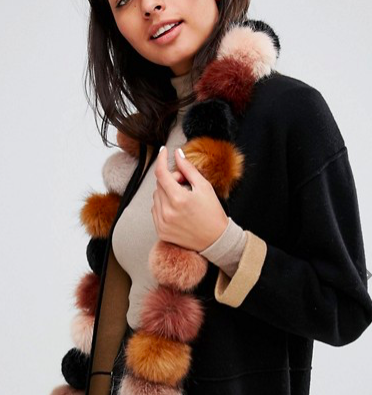 Urbancode Faux Fur Pom Long Scarf