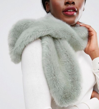 Pieces Faux Fur Scarf