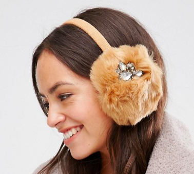 Alice Hannah Gem Fur Earmuffs