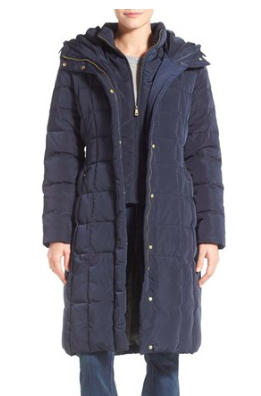 Cole Haan Bib Insert Down & Feather Fill Coat  COLE HAAN SIGNATURE
