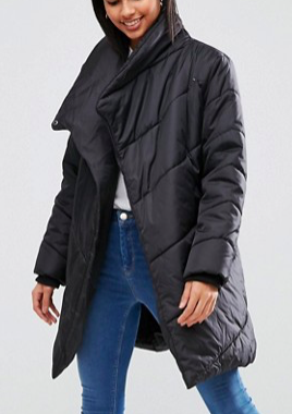 ASOS Padded Jacket with Waterfall Front