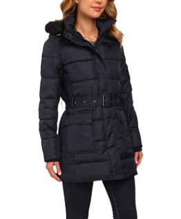 LAUREN Ralph Lauren Belted Polyfill Down with Hood