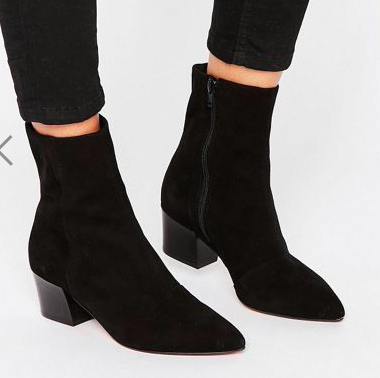 ASOS RETSELLA Suede Ankle Boots