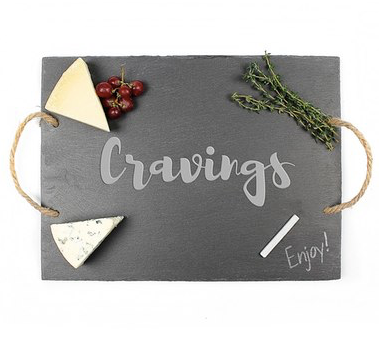 CATHY'S CONCEPTS 'Cravings' Slate Serving Board