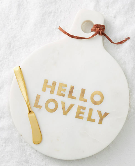 Anthropologie Gilded Greetings Cheese Board