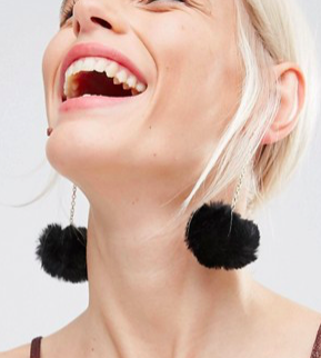 ASOS Pom Drop Earrings