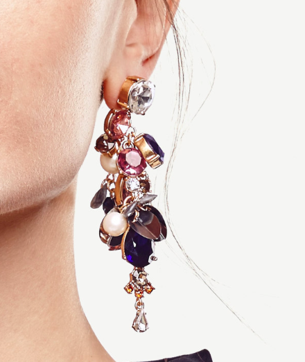 Ann Taylor cluster earrings
