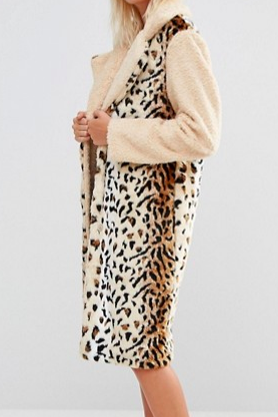 Glamorous Animal Print Coat