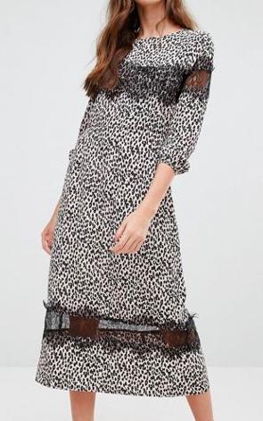 Millie Mackintosh Leopard Print Midi Dress