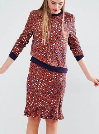 Baum und Pferdgarten Eireen Skirt in Leopard Print