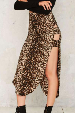 Nightwalker Curve Leopard Skirt