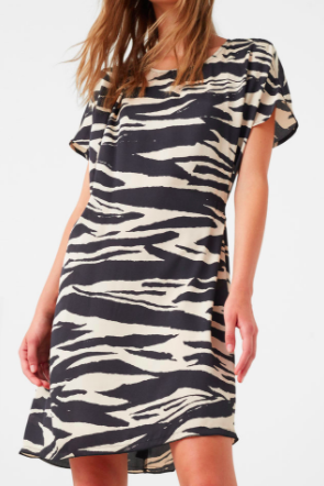 Mango zebra print dress