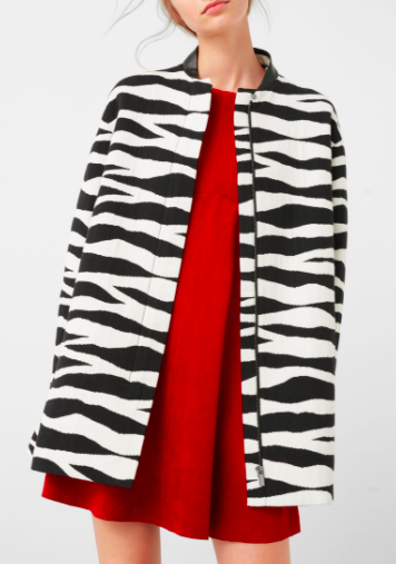 Mango Animal design coat