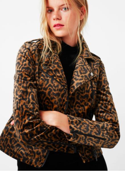 Mango Animal pattern jacket