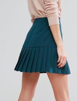 ASOS Mini Skirt with Pleated Hem