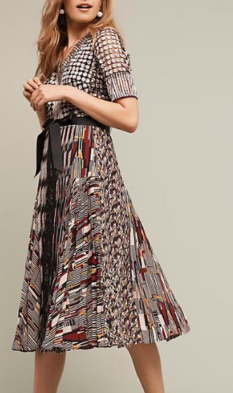 Paillette Pleated Dress