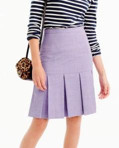 JCREW Box-pleated skirt in wool flannel