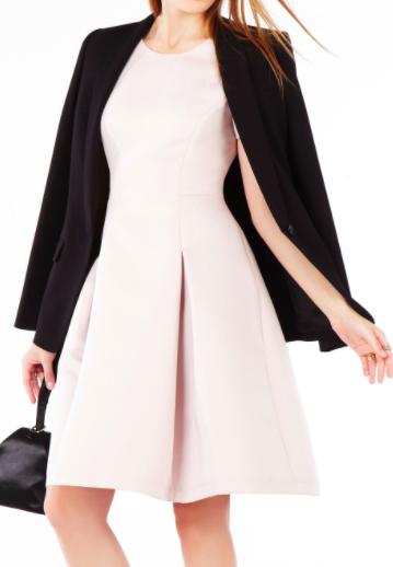 BCBG Shayla Pleated Midi Dress