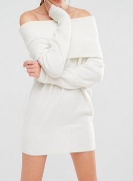 Kendall + Kylie Fuzzy Knit Tunic Dress