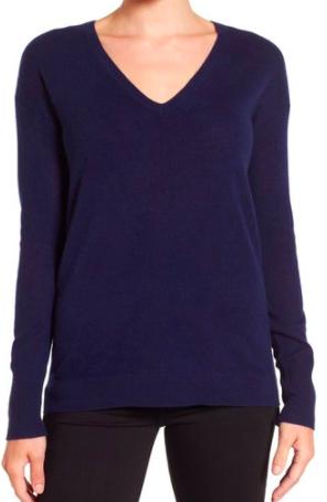 Halogen® V-Neck Cashmere Sweater