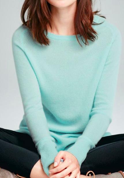 Halogen® Crewneck Lightweight Cashmere Sweater