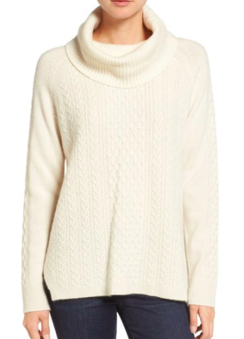 Madewell Convertible Cashmere Turtleneck Sweater