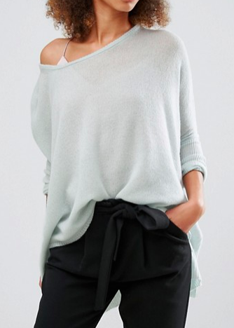 Subtle Luxury Cashmere Loose & Easy Sweater In Light Blue