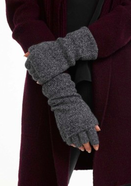 WHITE AND WARREN CASHMERE TWO WAY FINGERLESS GLOVE