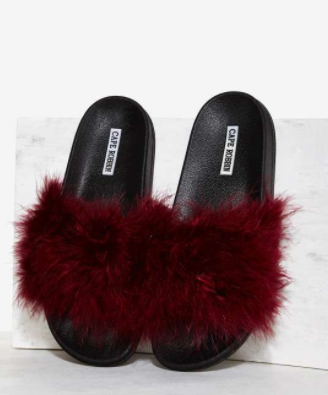 Fair Feather Friend Slide Sandal