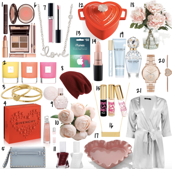 Valentine's Day Gifts for Her | TrufflesandTrends.com