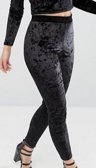 Miss Selfridge Petite Velvet leggings