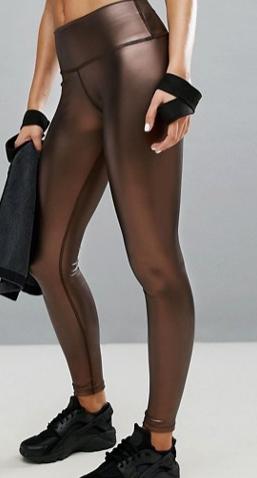 Haute Body Copper Vegan Leather Yoga Legging