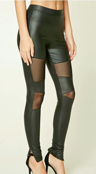 Forever 21 Mesh-Paneled Leggings