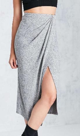 Silence + Noise Nadia Cozy Wrap Midi Skirt