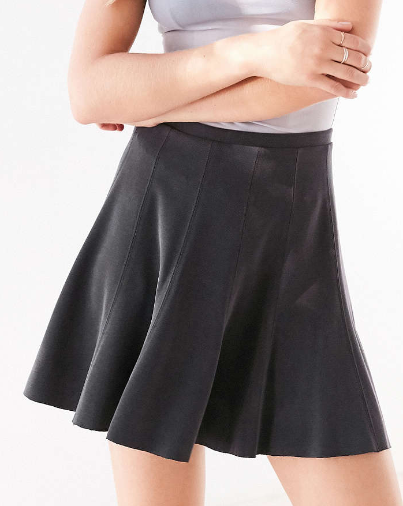 Silence + Noise Spin City Knit Skater Skirt