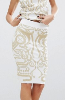Versace Jeans Digital Baroque Knitted Pencil Skirt