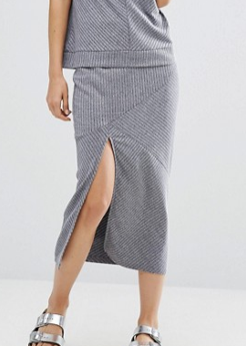 Minkpink Move Rib Knit Skirt
