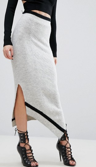 River Island Studio Knitted Tube Skirt