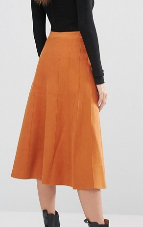 Warehouse Fit And Flare Knitted Skirt