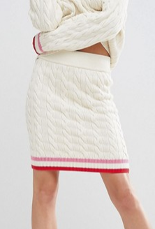 WAH LONDON x ASOS Cable Knit Cricket Skirt