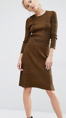 Gestuz Jannice Rib Knit Skirt in Melange