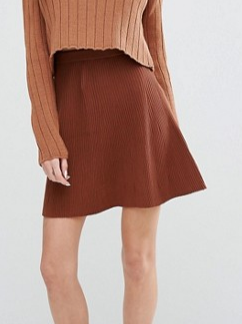 Missguided Knitted Skater Skirt