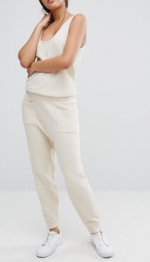 Micha Lounge Knitted Ribbed Jumpsuit