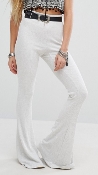 Free People Cozy Rib Knit Flares