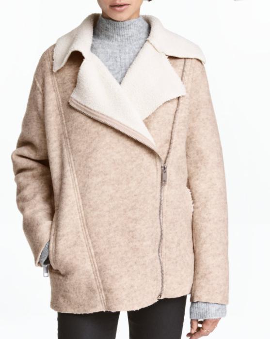 HM Wool-blend Biker Jacket