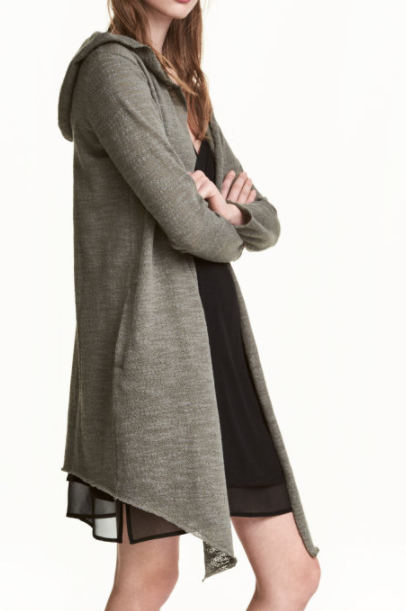 HM hooded cardigan