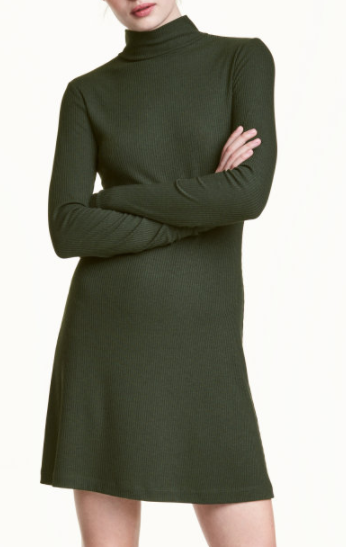 HM Ribbed Jersey Dress